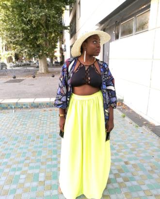 kimono grande taille à franges dikta