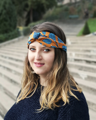 headband orange bleu Roxy chez Dikta