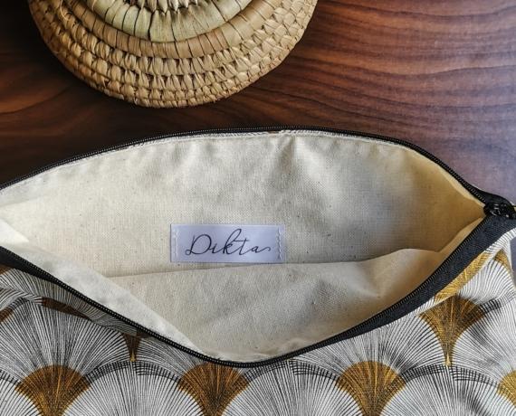 Pochette à motifs géométriques EVA chez Dikta