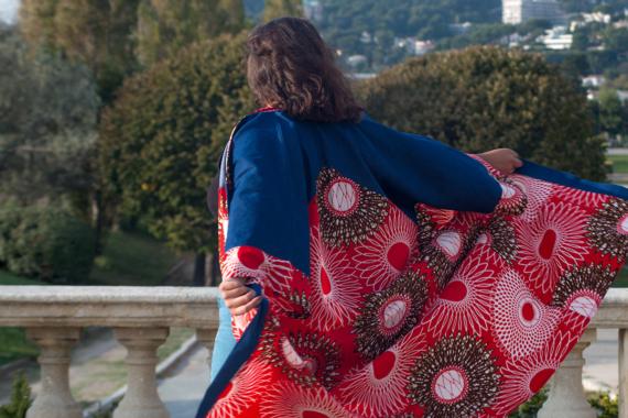 kimono wax et jeans IKO chez DIKTA.FR