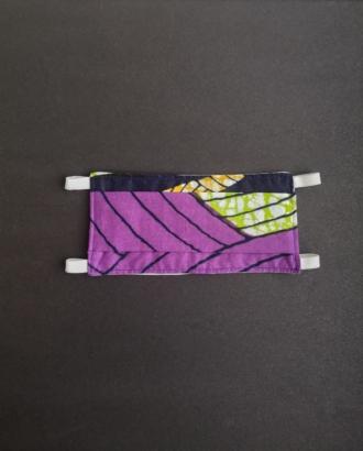 masque barrière en tissu violet dikta