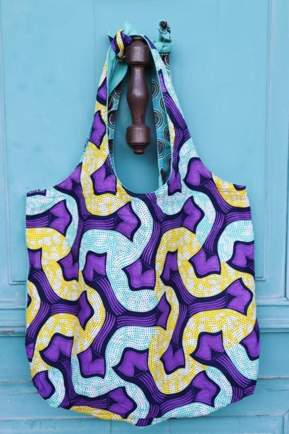 sac cabas réversible violeta en wax