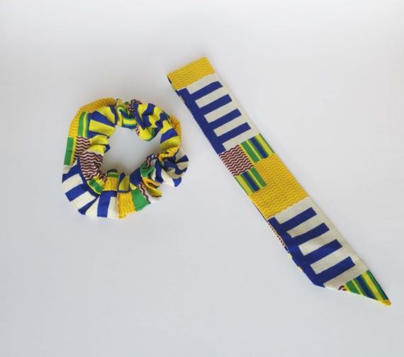 chouchou foulard kente dikta